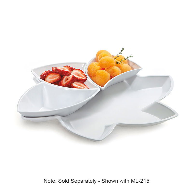 "GET ML-218-W San Michele Tray, 14-1/2"" Holds(6) ML-215 Plastic Dishes, White"