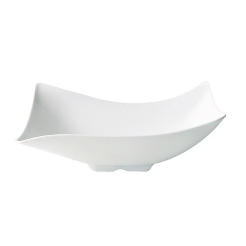 "GET ML-219-W San Michele Bowl, 60-oz, 5""Deep, Rectangular, Melamine, White"