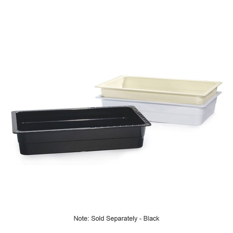 "GET ML-22-BK Food Pan, 13-1/4 x 21, 4"" Deep, Black"