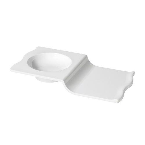 GET ML-231-W Rectangular Soup/Sandwich Plate w/ 10-oz Capacity, Melamine, White