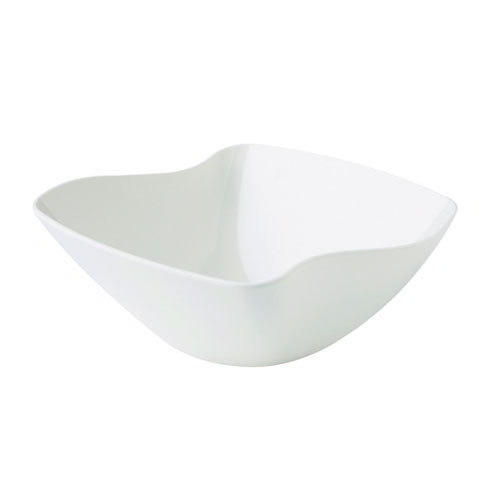 "GET ML-235-W San Michele Bowl, 15 x 6-1/4""Deep, Square, Melamine, White"