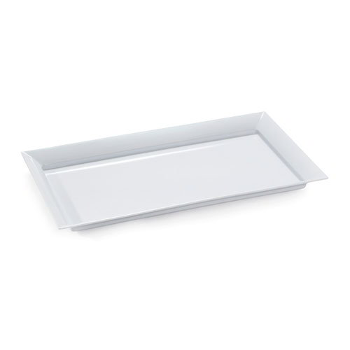 "GET ML-242-W Siciliano Tray, 27-7/8 x 16"" Rectangular, Melamine, White"