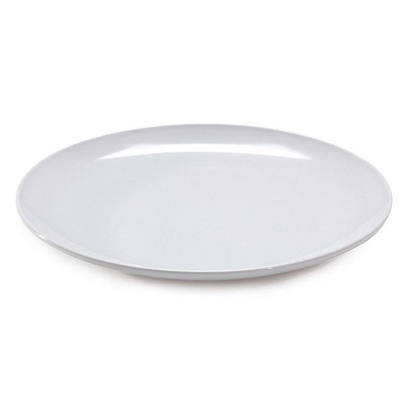 "Get ML-243-W Siciliano Display Plate, 23-7/8""Round, 2""Deep, Melamine, White"