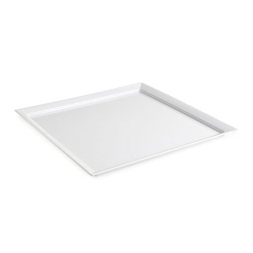 "GET ML-244-W Siciliano Platter, 23-7/8""Square, 1-1/2""Deep, Melamine, White"