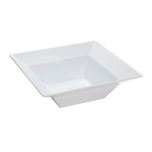 "GET ML-245-W Siciliano Bowl, 12""Square, 4""Deep, Melamine, White"