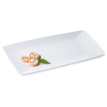 "GET ML-287-W Siciliano Rectangular Tray, 15 x 7.5"", White Melamine"