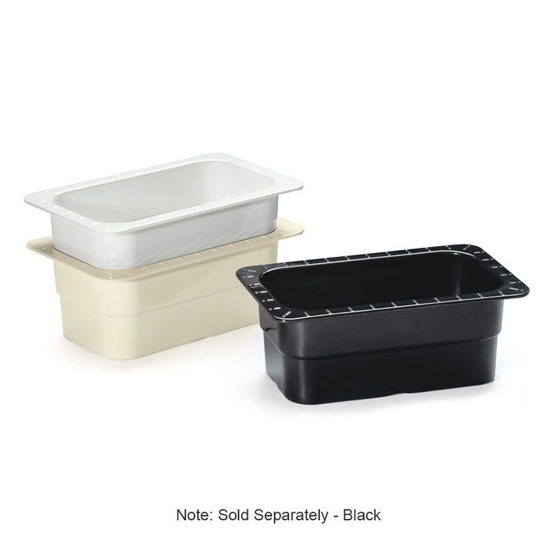 "GET ML-28-BK 1/4-Size Food/ Insert Pan For 12 x 20"" Opening, 4"" Deep, Black"