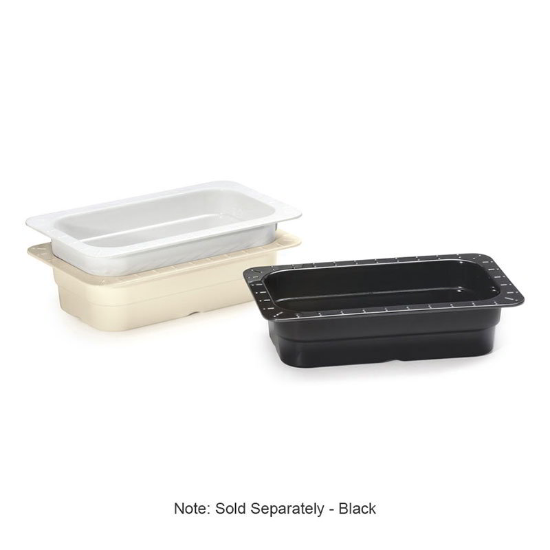 "Get ML-29-IV 1/4-Size Food/ Insert Pan For 12 x 20"" Opening, 2.5"" Deep, Ivory"