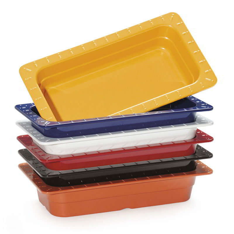 "GET ML-29-BUI 1/4-Size Food/Insert Pan For 12 x 20"" Opening, 2.5"" Deep, 6-Color"