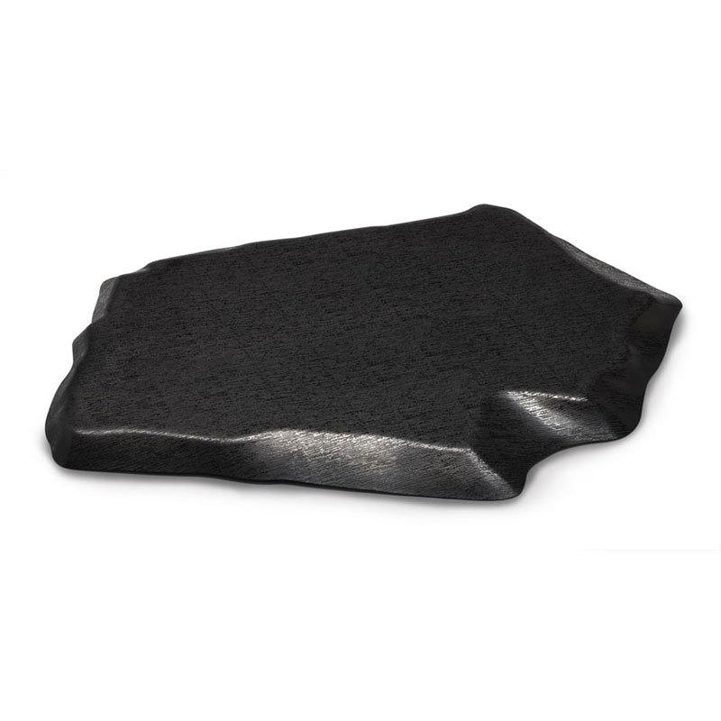 "GET ML-384-BK Stone-Shaped Slab, 23.75"" x 15"", Melamine, Black"