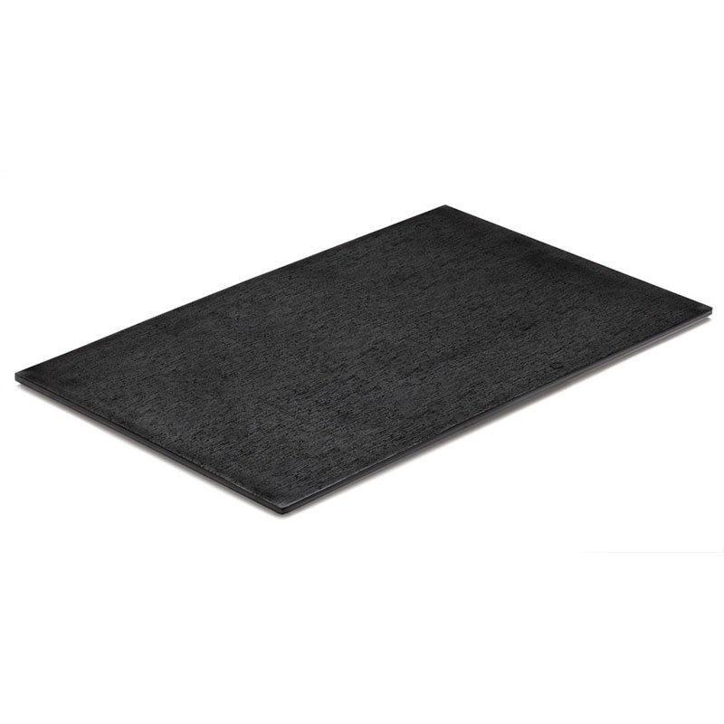 "GET ML386BK Stone Mel Display Slab, 23-75 x 13 x 3/10"" Thick, Textured Black"