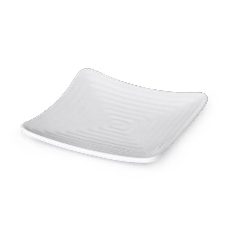 "GET ML-60-W 6""x 6""Plate, Melamine, White"