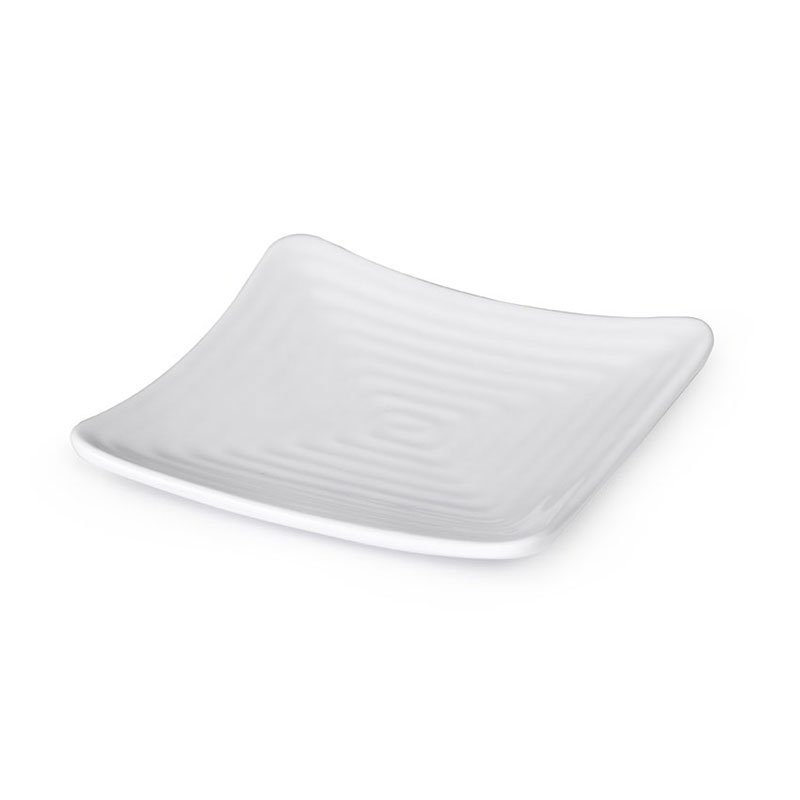 "GET ML-65-W 13.75"" Square Dinner Plate, Melamine, White"