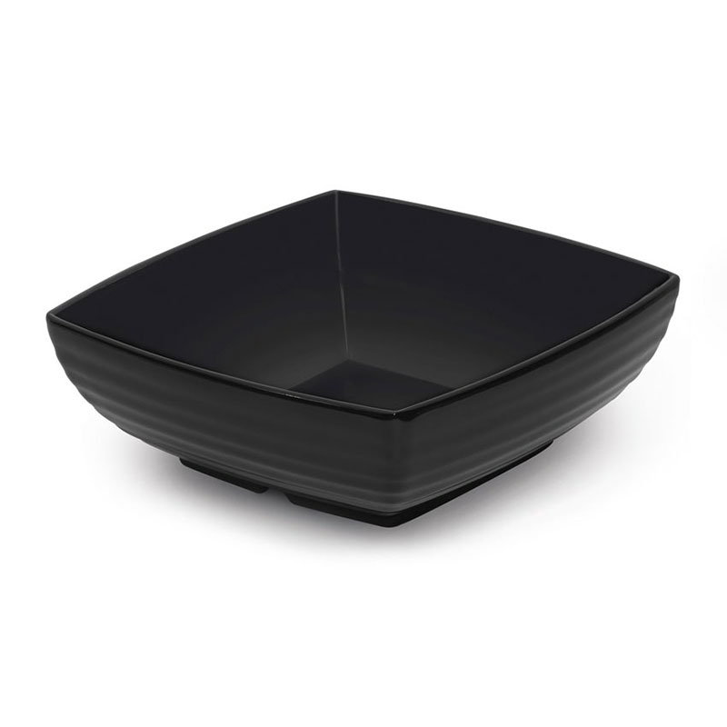 "GET ML-66-BK 1-3/4 qt Bowl, 8""x 8"" Melamine, Black"