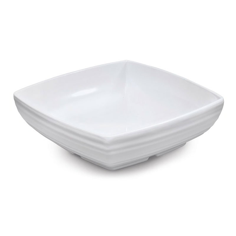 "GET ML-67-W 2-1/2 qt Bowl, 9""x 9"" Melamine, White"