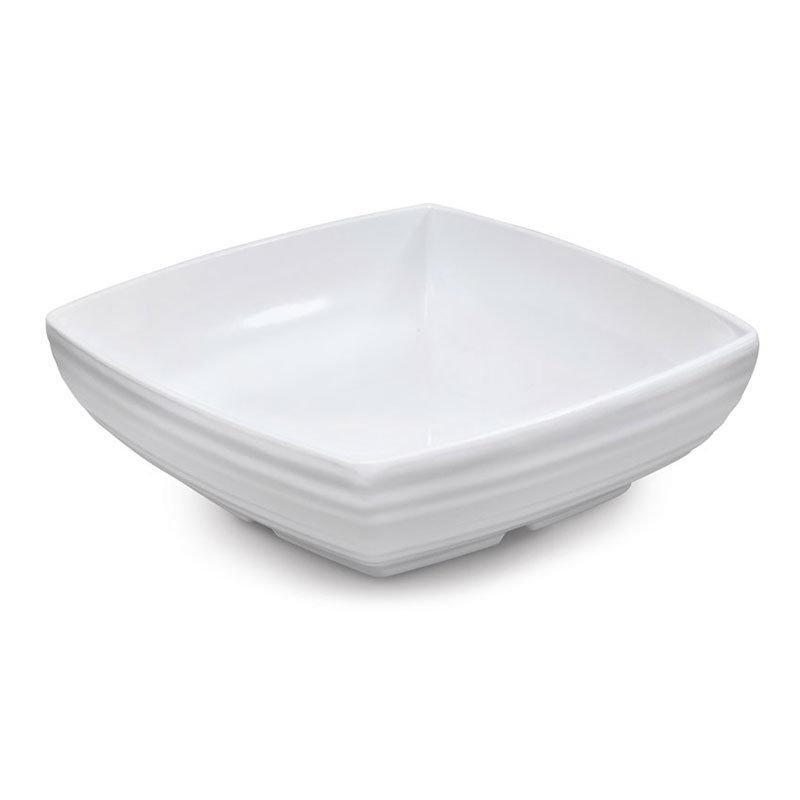 "GET ML-67-W 9"" Square Serving Bowl w/ 2.5-qt Capacity, Melamine, White"