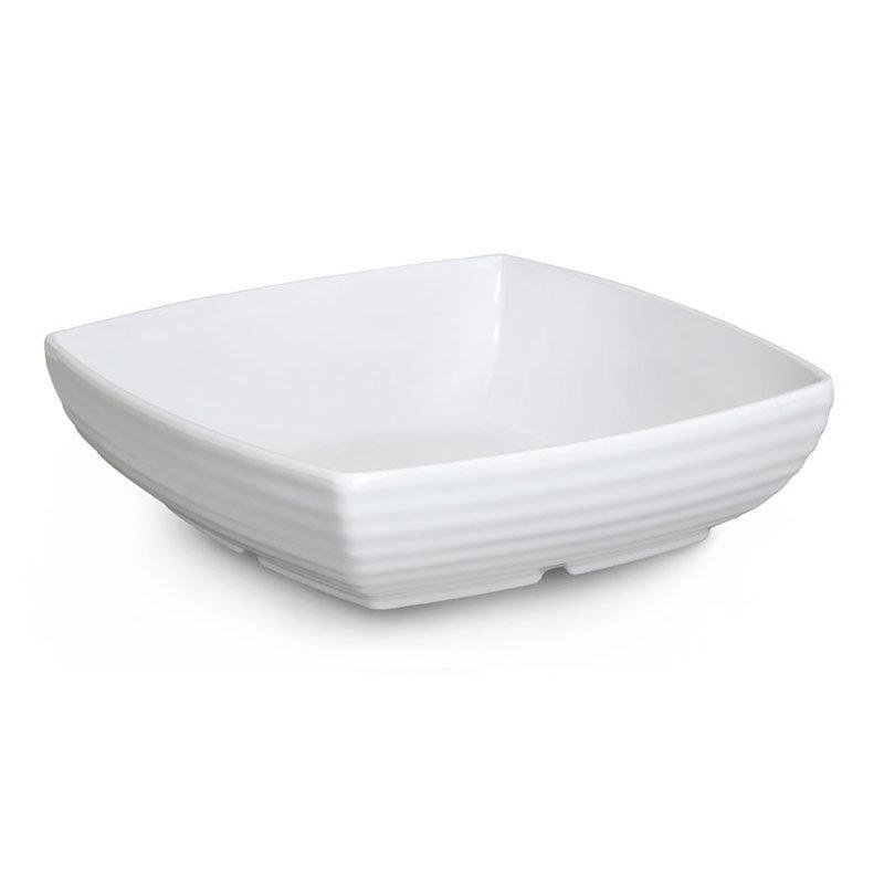 "GET ML-68-W 10.5"" Square Serving Bowl w/ 3-qt Capacity, Melamine, White"