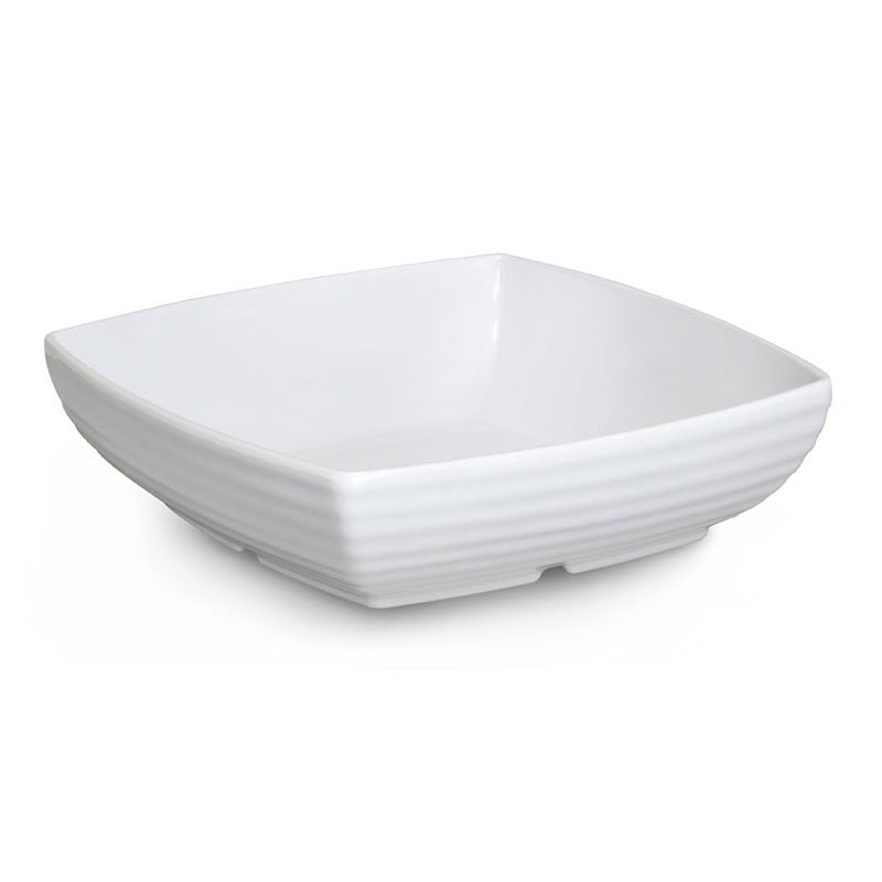 "GET ML-69-W 4 qt Bowl, 11""x 11"" Melamine, White"