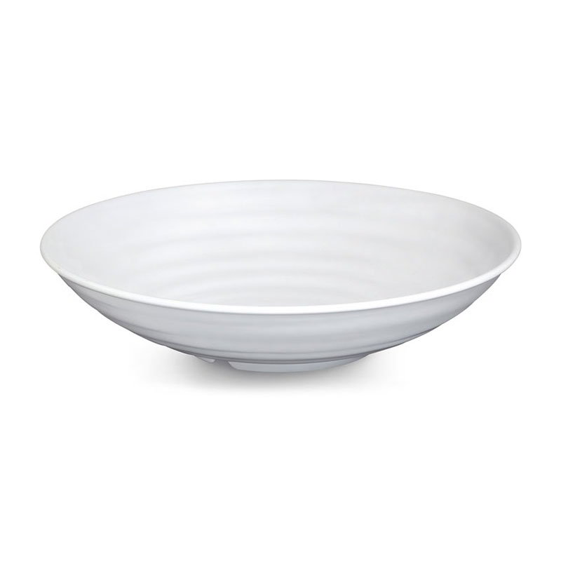 "GET ML-75-W 4 qt Bowl, 13-1/2"" Melamine, White"