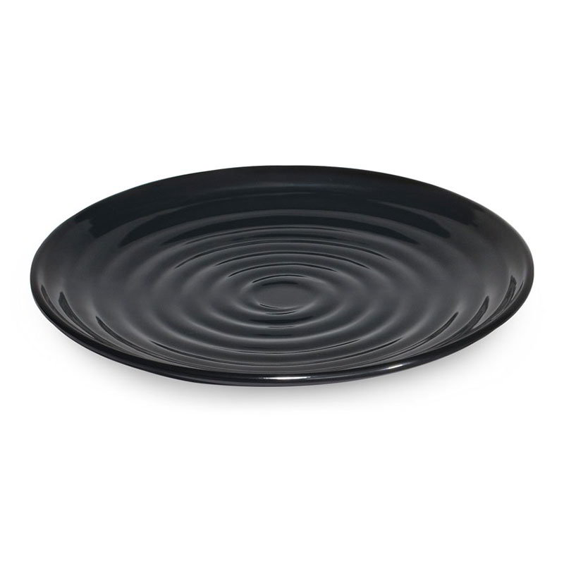 GET Enterprises ML-81-BK 9-1/2 in Round Plate Melamine Black Restaurant Supply