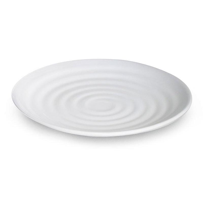 """GET ML-81-W 9-1/2""""Round Plate, Melamine, White"""