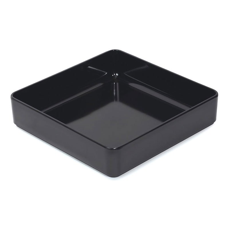 "GET ML-85-BK 12""x 12""Square Bowl, Melamine, Black"