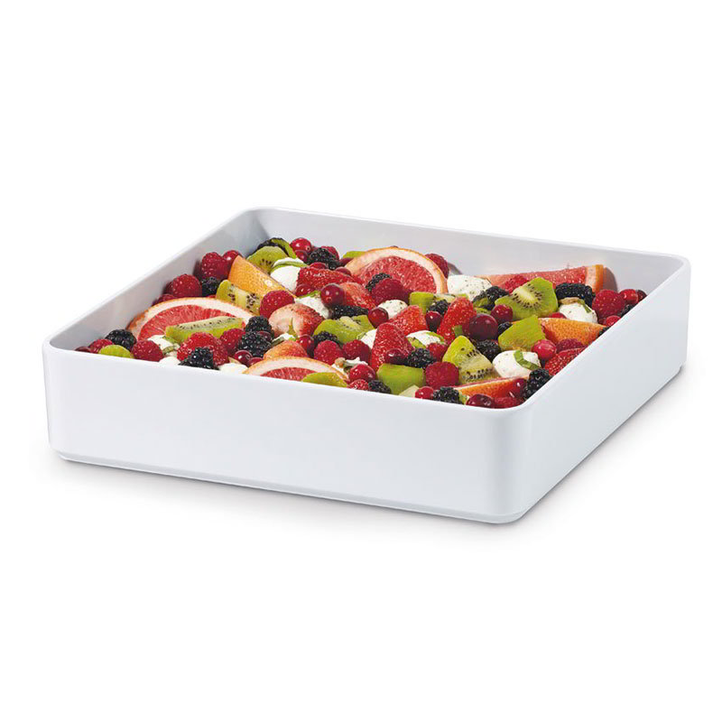 "GET ML-85-W 12""x 12""Square Bowl, Melamine, White"