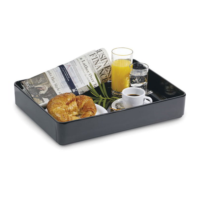 "GET ML-86-BK 12""x 16""Rectangular Bowl, Melamine, Black"