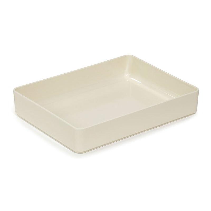"GET ML-86-IV 7.6-qt Milano Rectangular Plastic Bowl, 15.75 x 12 x 2.75"" Deep, Ivory"