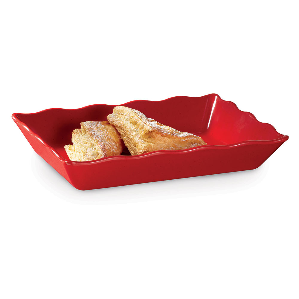 "GET ML-88-RSP 14""x 9-5/8""Rectangular Platter, Melamine, Red Sensation"