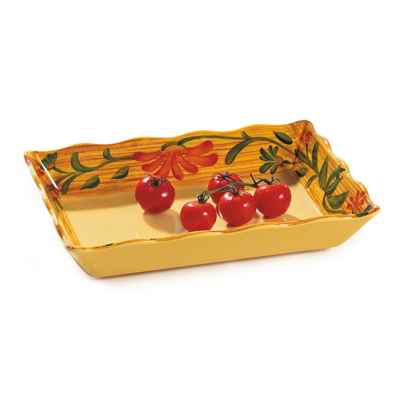 "GET ML-88-VN Venetian Rectangular Tray w/ Feet, 13.75 x 9.5 x 2.5"" Deep"
