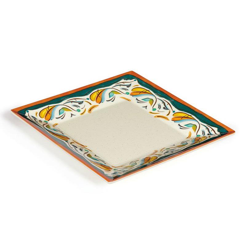 "GET ML-90-BF 12"" Bella Fresco Square Plate - Melamine"