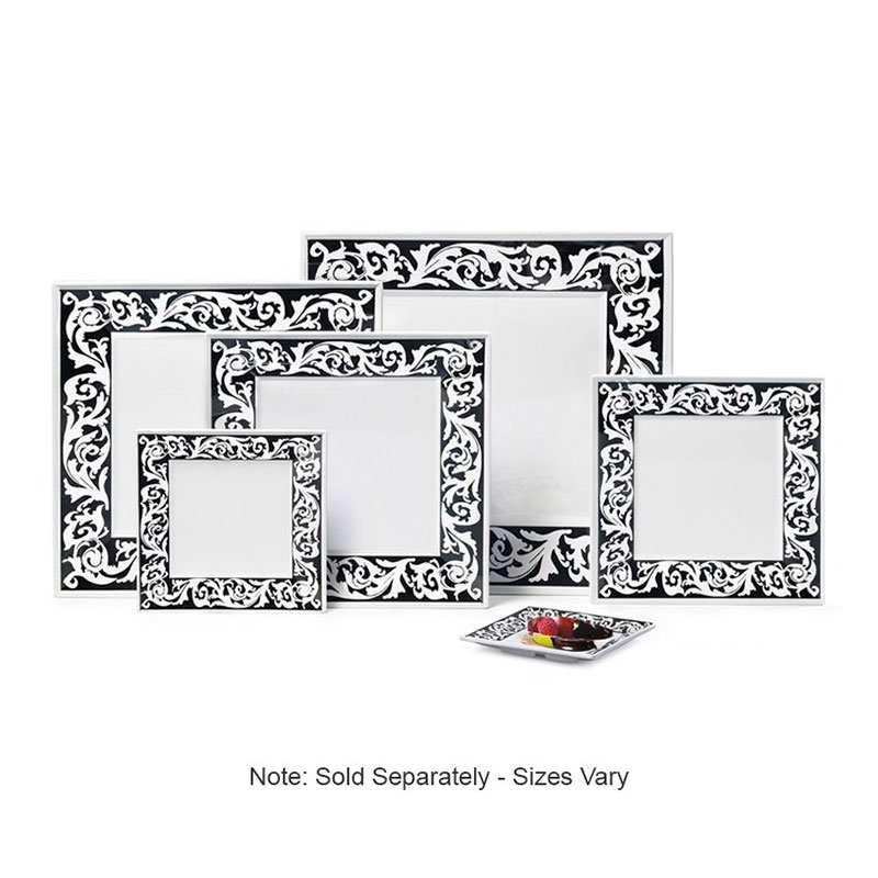 "GET ML-90-SO 12""x 12""Square Plate, Melamine, Soho"