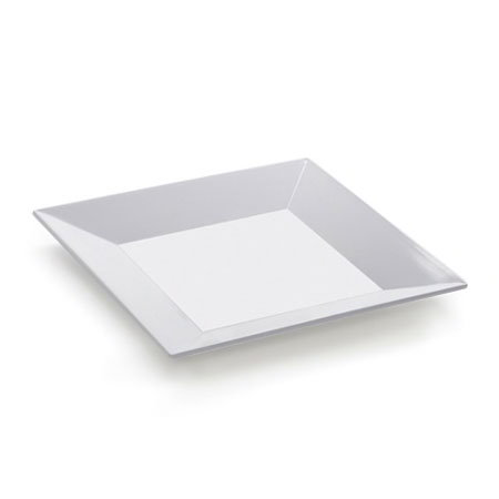 GET ML-90-W Siciliano Plate, 12 x 12, Square, Melamine, White
