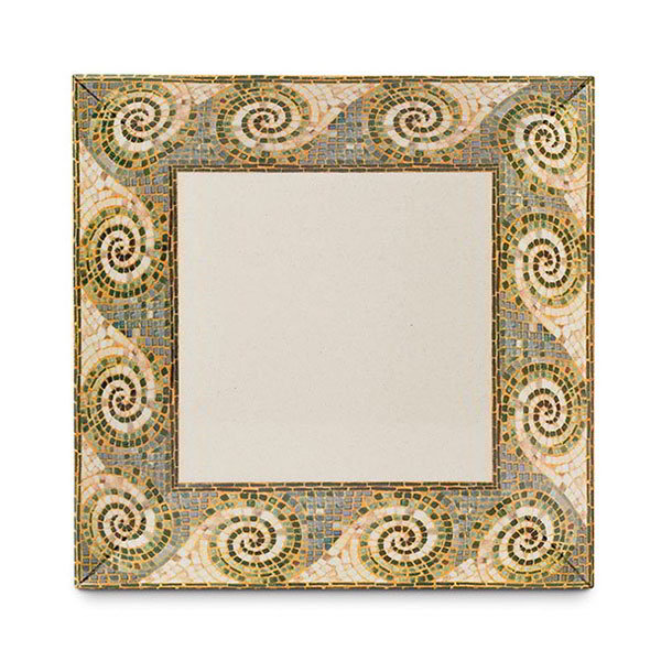 "GET ML-91-MO 14""x 14""Square Plate, Melamine, Mosaic"