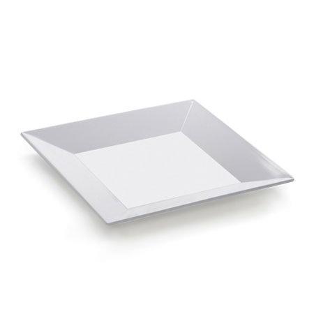 GET ML-91-W Siciliano Plate, 14 x 14, Square, Melamine, White