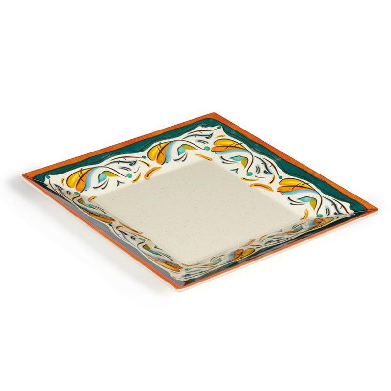 "GET ML-92-BF 16"" Bella Fresco Square Plate - Melamine"