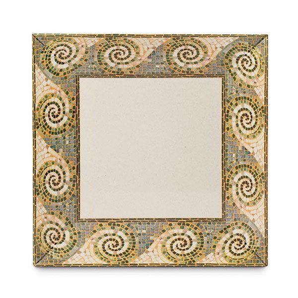 "GET ML-92-MO 16""x 16""Square Plate, Melamine, Mosaic"
