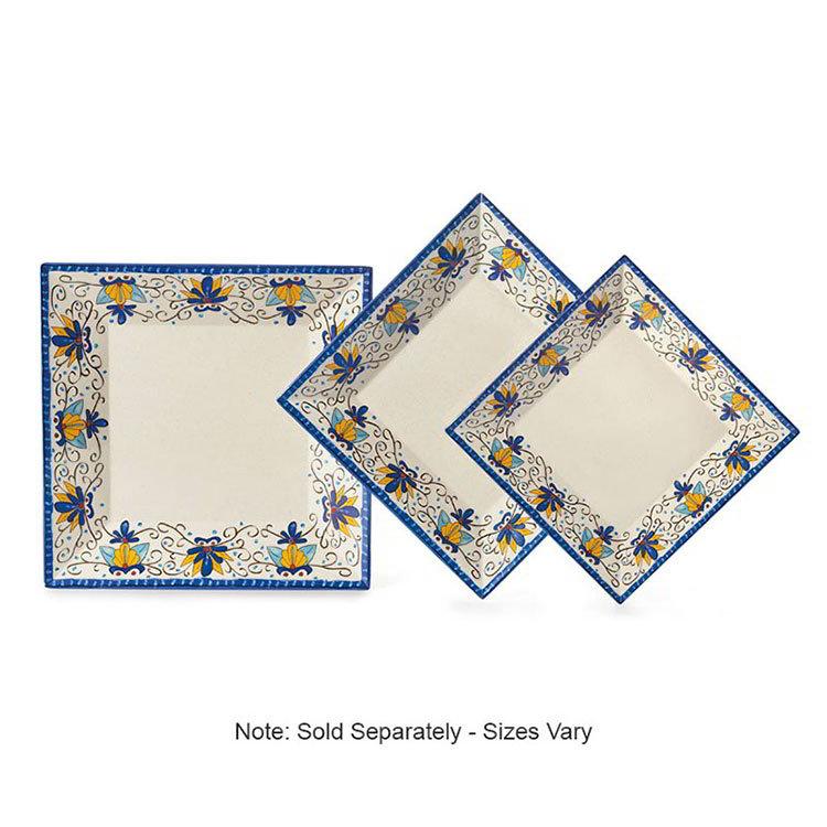 "GET ML-92-SL 16""x 16""Square Plate, Melamine, Santa Lucia"