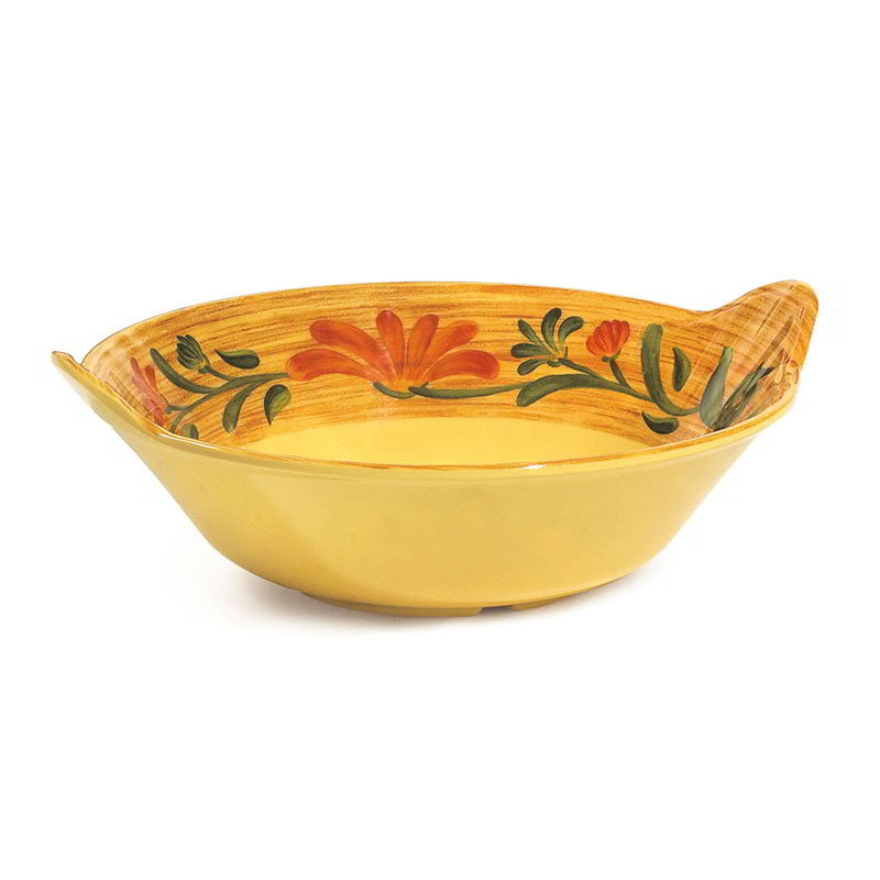 "GET ML-93-VN 12.5"" Round Pasta Bowl w/ 2-qt Capacity, Melamine, Yellow"