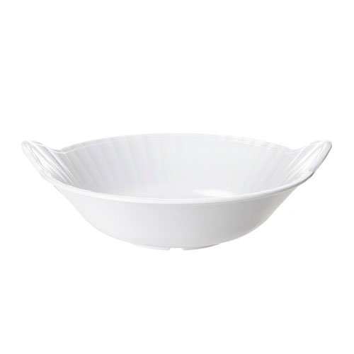 "Get ML-94-W Siciliano Bowl, 3 qt, 13-1/2 Diameter, 3""Deep, Melamine, White"