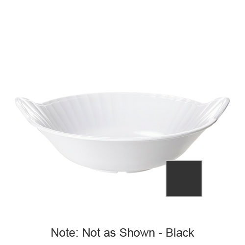 "GET ML-94-BK Siciliano Bowl, 3 qt, 13-1/2 Diameter, 3""Deep, Melamine, Black"