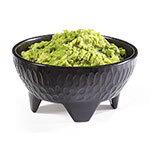 GET MOJ-802-BK 10-oz Salsa Plastic Dish, Molcajete, Black, w/ 4 Feet