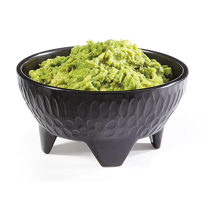 GET MOJ-804-BK 64-oz Salsa Plastic Dish, Molcajete, Black, w/ 4 Feet