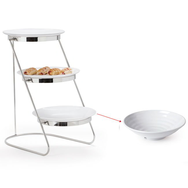"GET MTS029/ML73W-SET 3-Tier Display Stand Set, 11.25"" x 17.75"" x 18.75"", Stainless"