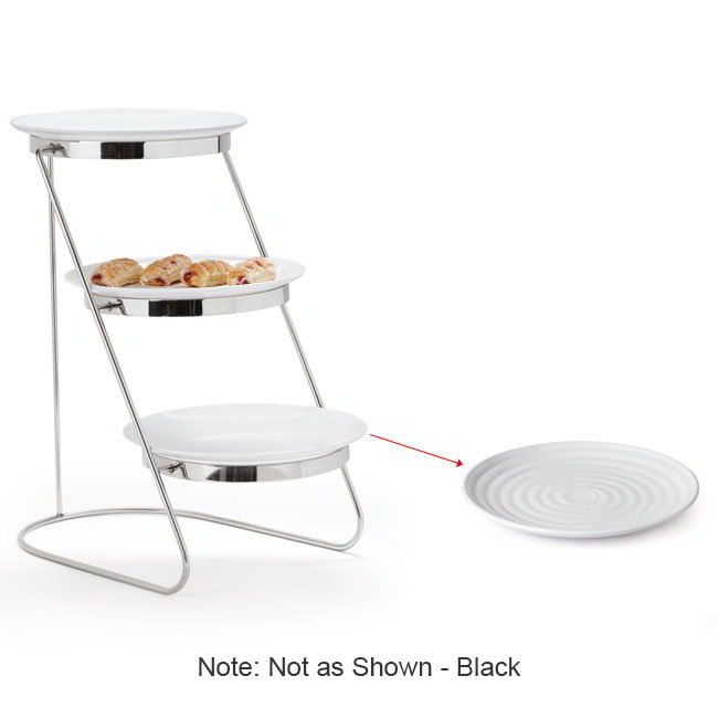 "GET MTS029/ML82BK-SET 3-Tier Display Stand Set - 11.25"" x 17.75"", Stainless"