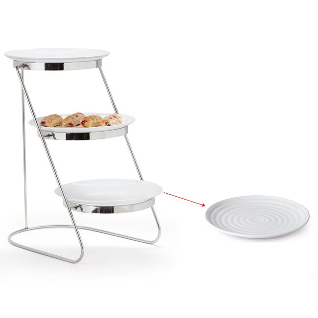 "GET MTS029/ML82W-SET 3-Tier Display Stand Set, 11.25"" x 17.75"" x 18.75"", Stainless"