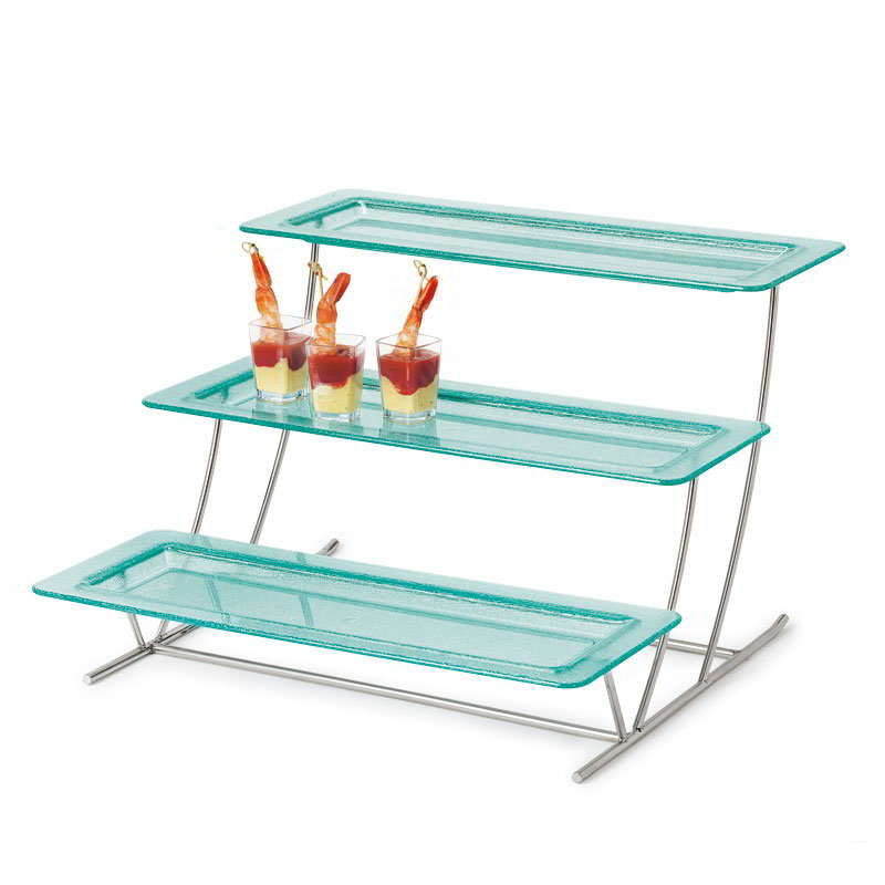 "GET MTS034/HI2260JA-SET 3-Tier Display Stand - 17.75"" x 19.75"", Stainless"