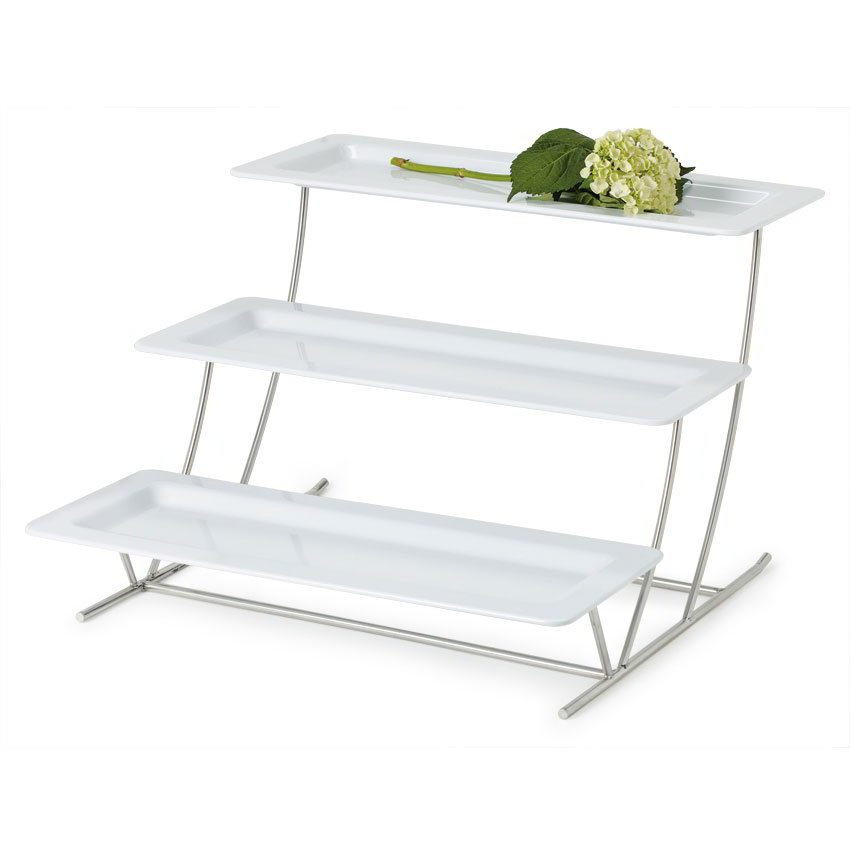 """GET MTS034/ML226W-SET 3-Tier Display Stand Set, 14.25"""" x 8.25"""" x 19.5"""", Stainless"""