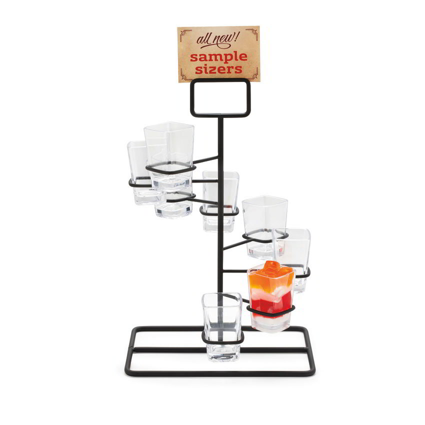 "GET MTS-1496-BK Dessert Shot Display Stand - 14.25"" x 8.5"", Metal, Black"